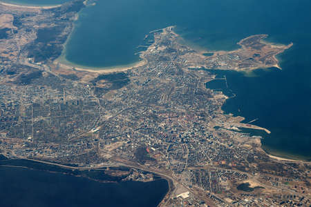 estonian: Tallin, capital of Estonia from the air
