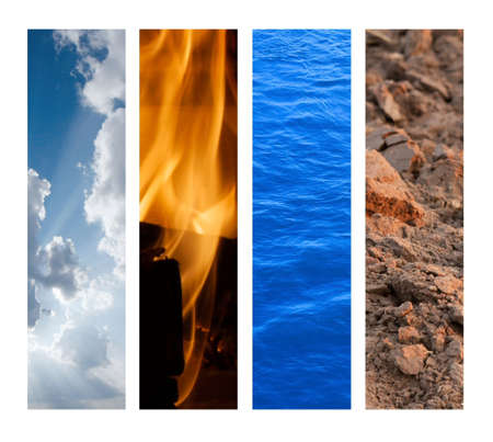 The Four Elements - Air, Fire, Water, Earth Stock Photo - 5049537