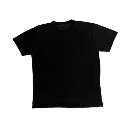 Black t-shirt shape isolated on white background Stock Photo