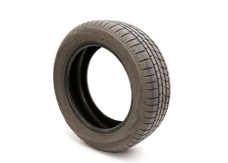 Tyre of a car isolated on white background Stock Photo - 5049567
