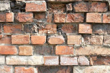 Simple brick wall texture with bright bricks photo