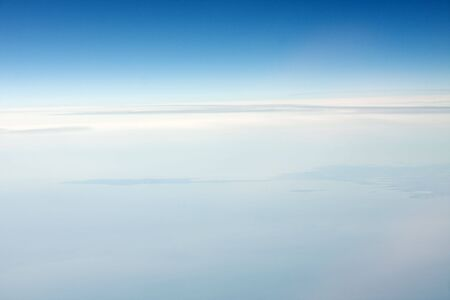 Soft, smooth stratosphere background, white to sky blue Stock Photo - 5498526