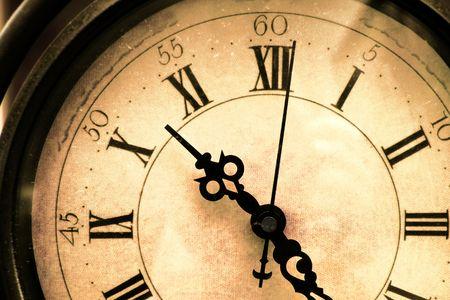 Vieux, taché, closeup horloge vintage