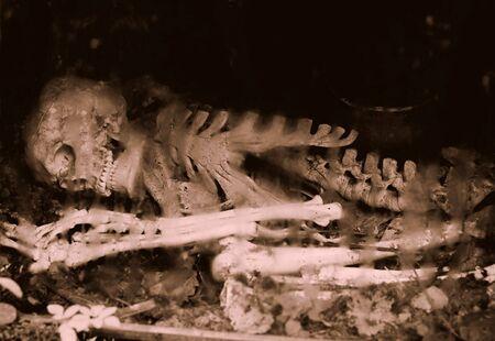 Vestiges d'un squelette humain de métro