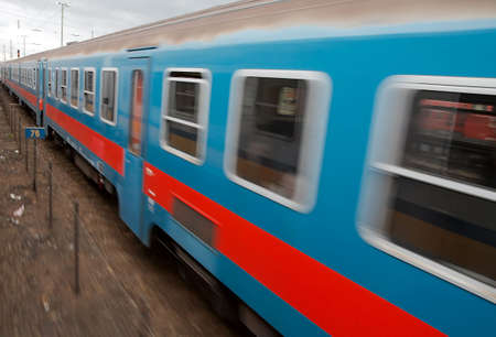 Fast passenger train with motion blur Stock Photo - 5703379