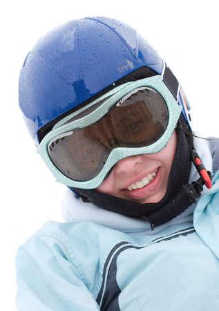 Portrait of a female skier photo