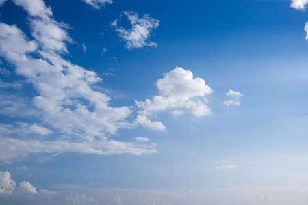 cloude: Blue sky with white clouds Stock Photo