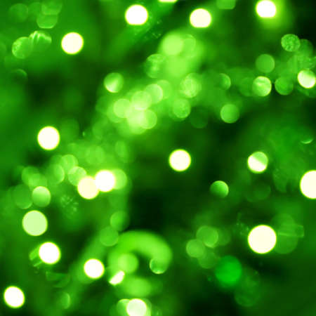 out of focus: Background with out of focus light dots in green Stock Photo