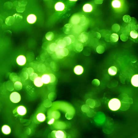blurry lights: Sfondo con dei punti luce di messa a fuoco in verde  Archivio Fotografico