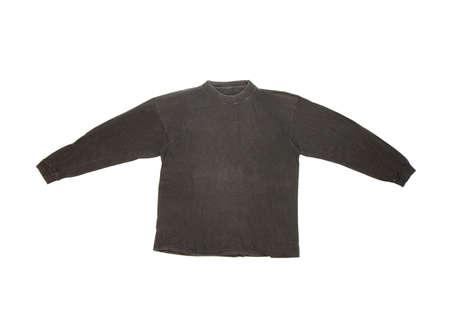 sleeved: Black, long sleeve shirt isolated on white