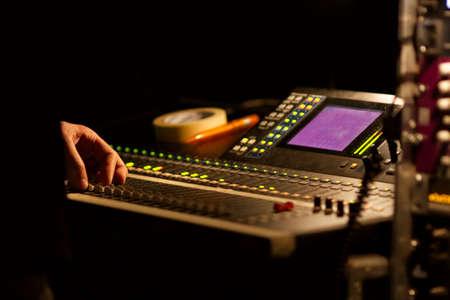 soundboard: Soundboard mixer at a concert