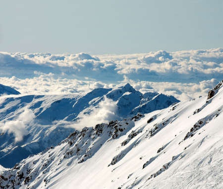 High mountain range in winter Stock Photo - 5915115