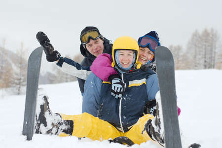Group of young skiers having fun in the snow Stock Photo - 5945609