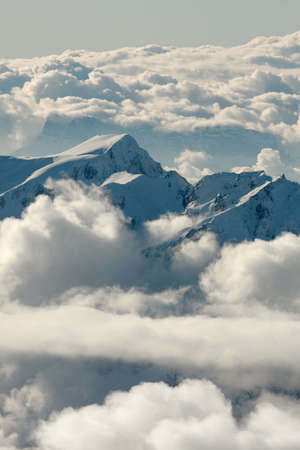 High mountain landscape above the clouds Stock Photo - 6043050