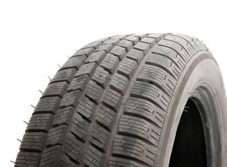 Car tyre detail on white background Stock Photo - 6043061