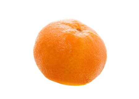 Tangerine isolated on white background photo