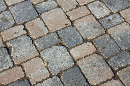 Old stone pavement texture photo