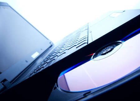 writable: Laptop with open cd tray