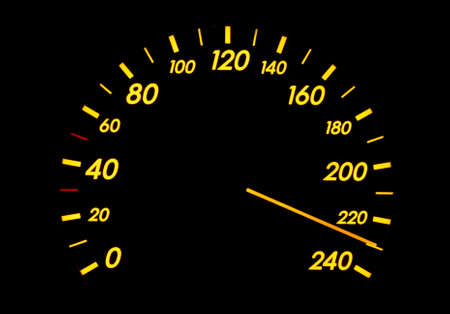 Speedometer showing insanely high speed Stock Photo - 6491608