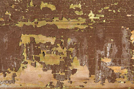 falling apart: Grungy background texture of wood with paint falling apart