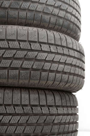 A pile of car tyres photo