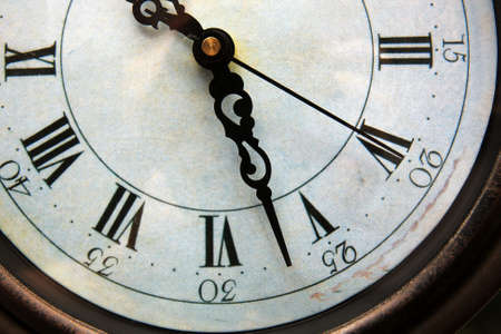 winder: Detail of an old analogue clock