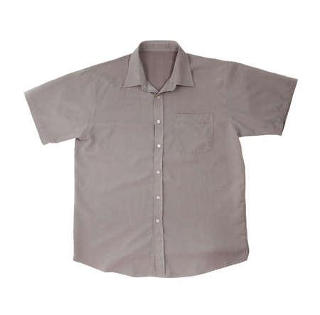 Grey shirt isolated on pure white background photo