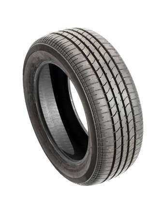 Car tyre isolated on pure white background photo