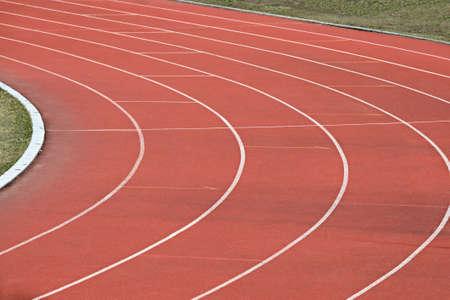 Athletics running track detail photo