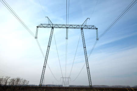 750 KV high voltage power line photo