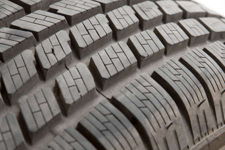 closeup detail of the tyre of a car photo