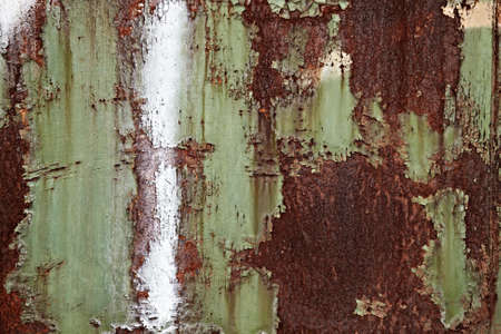 Rusty metal texture with paintwork falling apart Stock Photo - 6947871