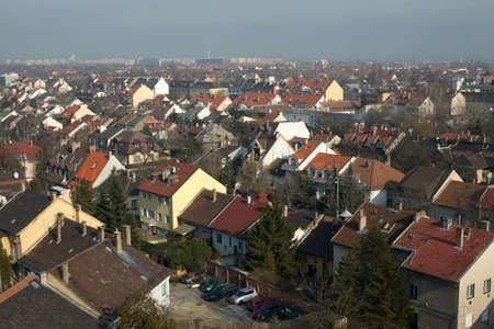 Suburban area of a town viewed from above Stock Photo - 7163192