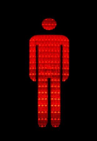 Figure of a red pedestrian traffic light photo