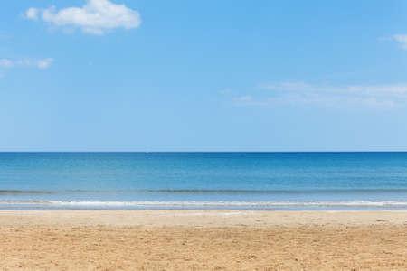 sandy beaches: Sandy beach in sunny weather Stock Photo
