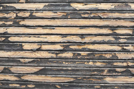 Dirty wood texture with paintwork falling apart photo
