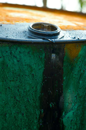 Old, leaking oil barrel Stock Photo - 7723343