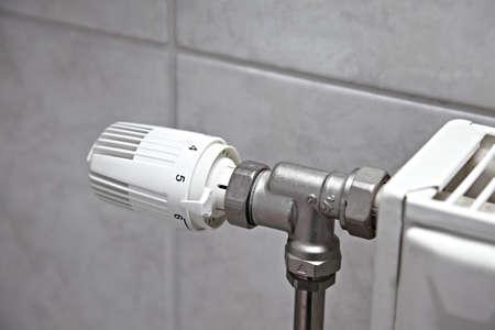 Heating radiator closeup photo