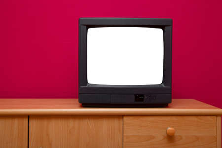 TV set with blank screen photo