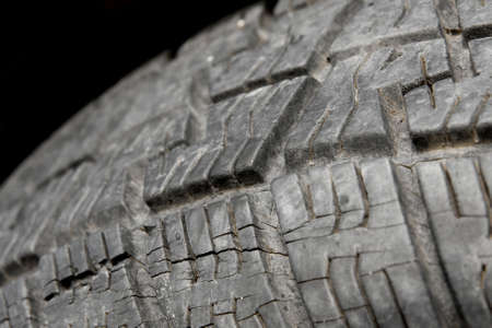 Used tire detail Stock Photo - 7723357