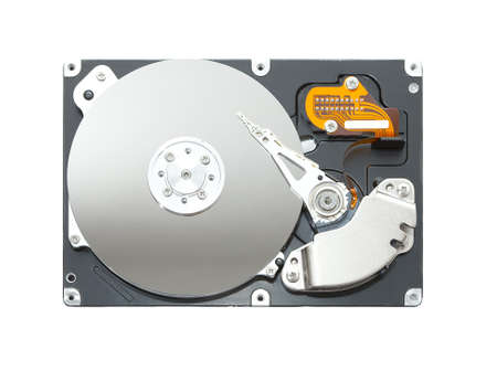 databank: Computer hard disk isolated on white background