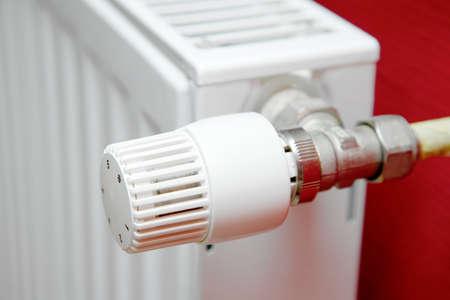 radiador: Detalle de un radiador de calefacci�n  Foto de archivo