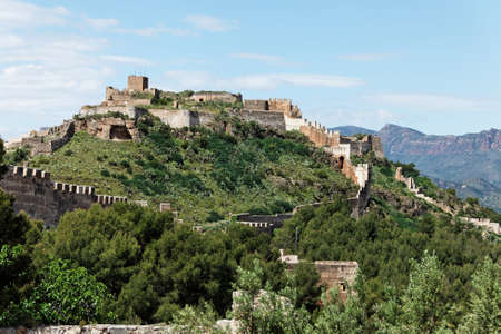 fortification: Ancient fortification in Sagunto, Spain Stock Photo
