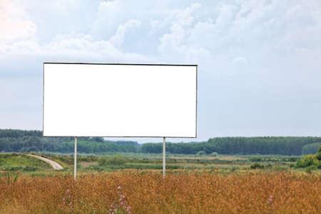 Blank billboard on a field Stock Photo - 8014143