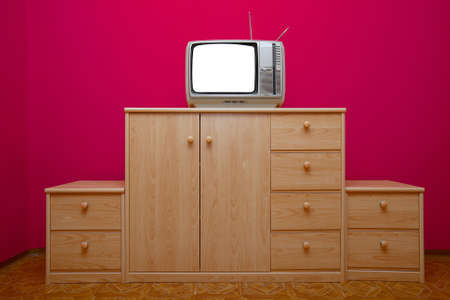 Vintage TV set with blank screen Stock Photo - 8114487