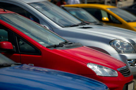 Cars parking in a row Stock Photo - 8203714
