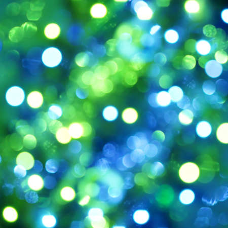 green light: Defocused light dots background Stock Photo
