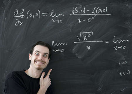 Math lesson with mad teacher Stock Photo - 8203490