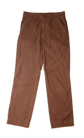creasy: Brown trousers isolated on white