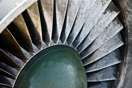 Detail of an old airplane jet engine Stock Photo - 8990225